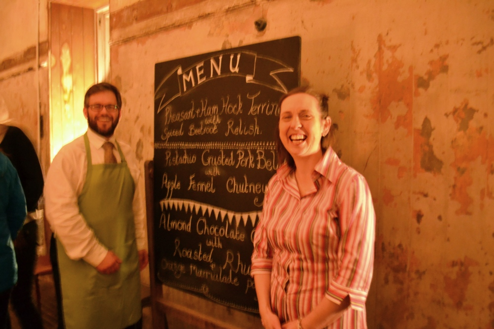 The Galloway Supper Club Dines in the Stables. (2/4)