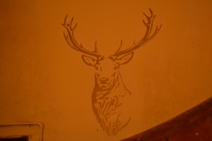 """The ambience was enhanced by the majestic stag"""