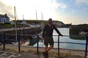 """Mark from Galloway WildFoods at start of forage walk in Portpatrick"""