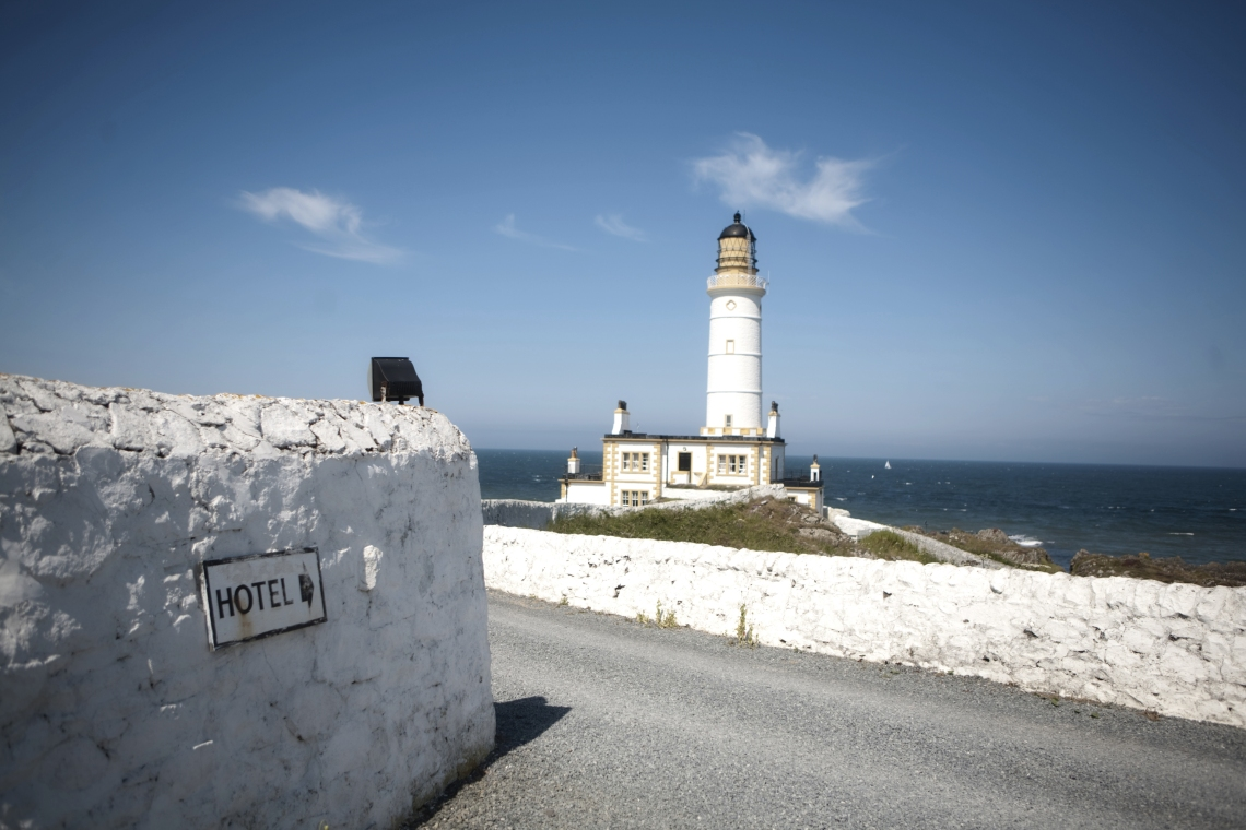 """Romantic dining at Corsewall Lighthouse restaurant"""