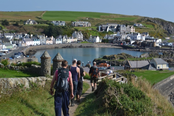 """Southern Upland way commences at Portpatrick"""