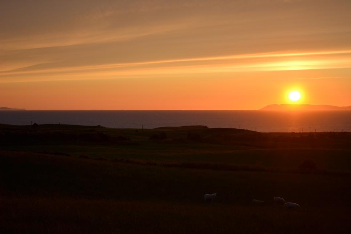 sunset over mull of kintyretwitter